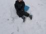 15.02.2021 Zabawy przedszkolaków na śniegu
